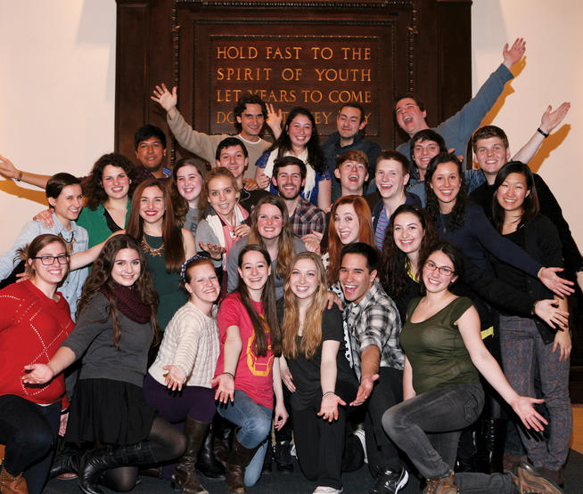 Photo of the cast and creative team behind the 2014 Varsity Show
