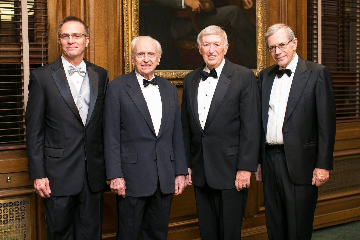 Photo of 2016 Hamilton Honorees with Columbia College Dean James J. Valentini