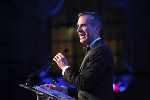 2018 John Jay Dinner - Website Gallery - Eric Garcetti speaking