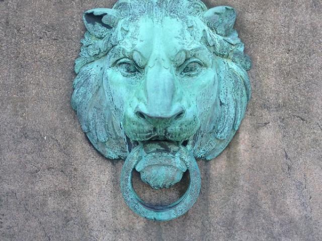 Lion outside Butler