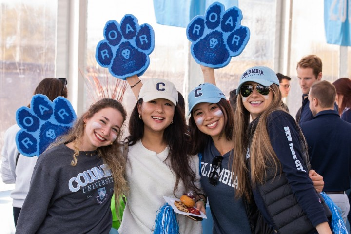 Scenes of alumni decked out in Columbia gear from Homecoming 2019