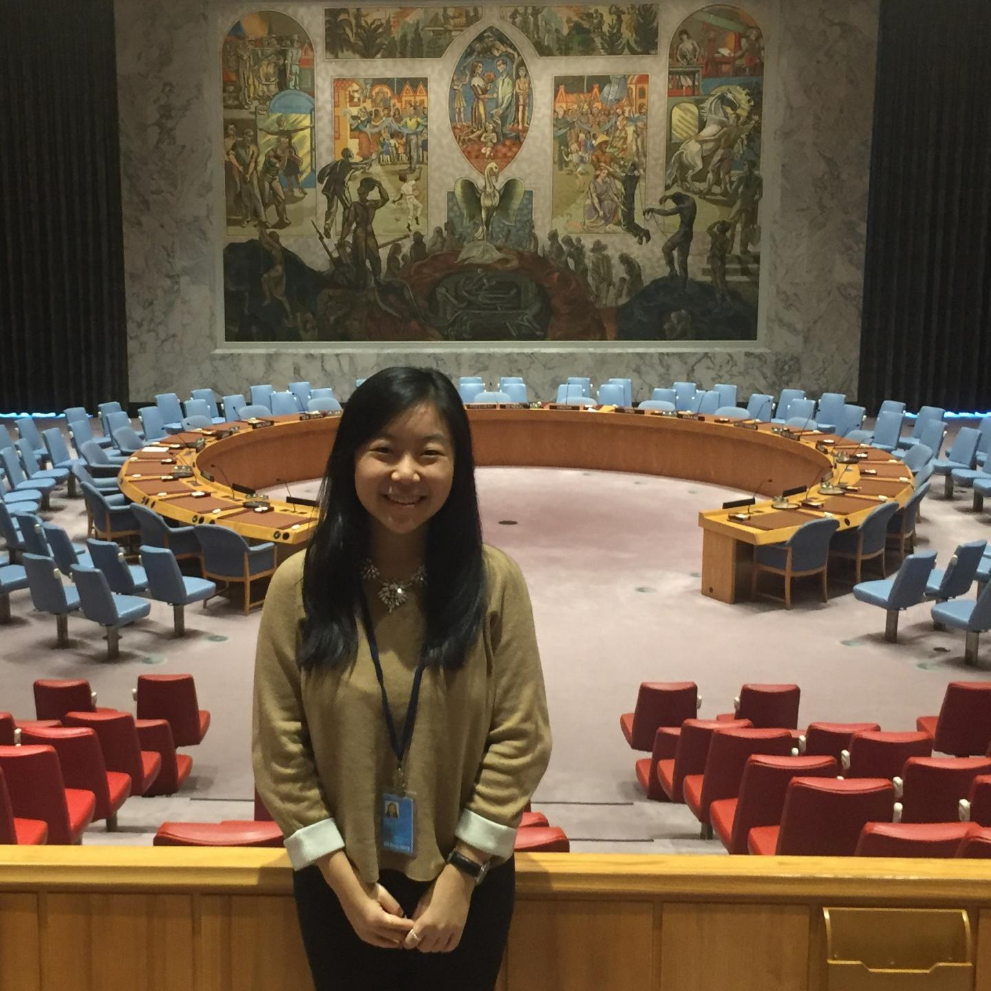 Columbia College Alumnus Jessica Hui CC'18 in United Nations