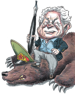 Caricature or Arnold Beichman