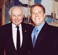 Greg Shill '02 (right) with Rep. Tom Lantos