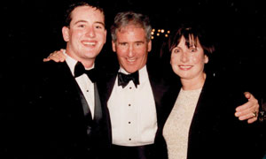 Campbell with his wife, Roberta, and son, Jim '04.