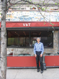 Thomas Hauser '67 outside V&T