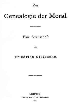 nietzsche genealogy of morals essay questions