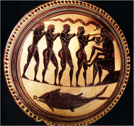 Blinding Of Polyphemos Laconian Black Figure Cup C 540