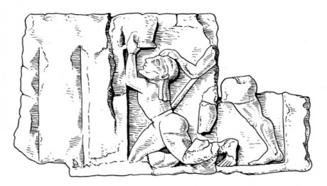 Death of Patroklos, sculpture from the metopes of the