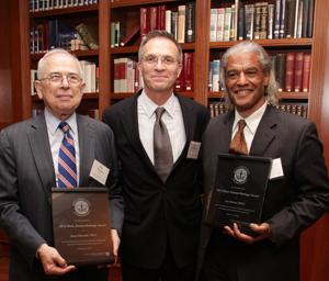 Gerald Sherwin '55, Interim Dean James J. Valentini and Joe Brown '66. PHOTO: REBECCA CASTILLO '94, '06J