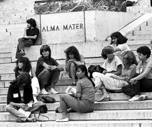 Women accounted for about 45 percent of the incoming freshmen in 1983.