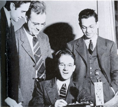 WKCR, which originated as the Columbia University Radio Club, in 1941. Photo: Courtesy Columbia College Today