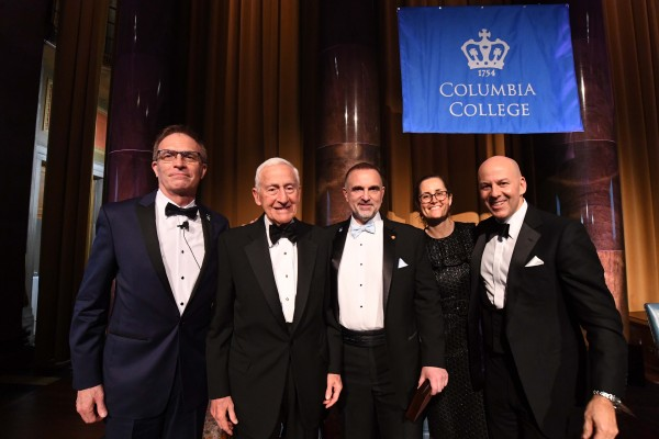 Dean James J. Valentini, George Yancopoulos and distinguished alumni