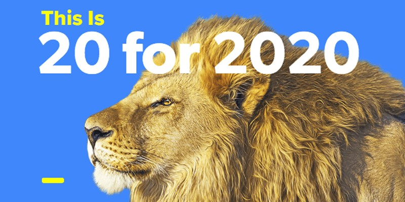 20 for 2020 Playlist cover for the Columbia College Class of 2020