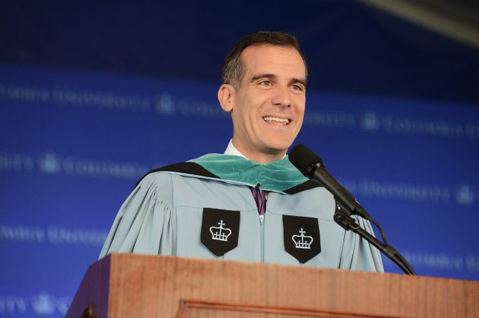 Class Day speaker Eric Garcetti CC'92, SIPA'93. Photo: Eileen Barroso