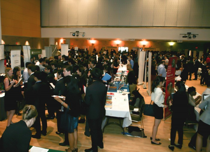 The Center for Career Education's annual Fall Career Fair was held on September 19 in Lerner Hall. Photo: Char Smullyan