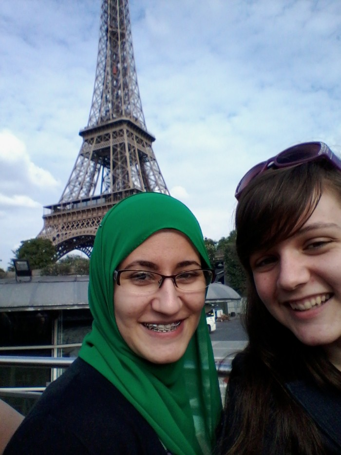 Mennaallah Elsayed CC'17 and Margaret Self CC'17, Presidential Global Fellows in Paris.