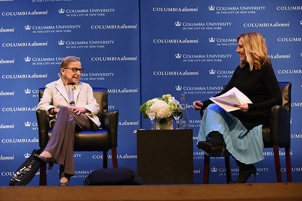 Ruth Bader Ginsburg LAW'59 and Poppy Harlow CC'05
