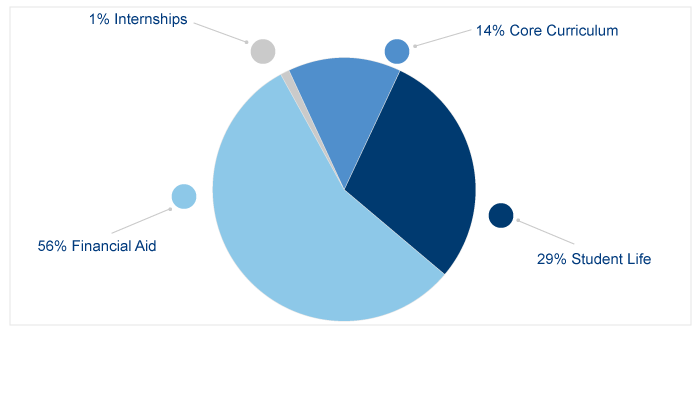 What the fund supports pie chart