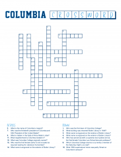 columbia college crossword