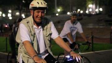 Photo of Kenneth T. Jackson during the 2014 Midnight Bike Ride
