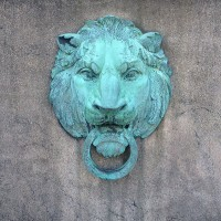 Lion outside Butler