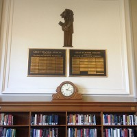 Teaching Lion from Rosencrans Reading Room in Butler Library