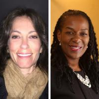 Dr. Vivian Mougios CC'96 and Dr. Valerie Purdie-Greenaway CC'93