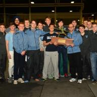 Men's Fencing, which was ranked as high as No. 1 in the nation during the regular season, tied for the league title, with Columbia winning two bouts nearly simultaneously with Harvard on adjacent fencing strips at the Ivy League Round Robins in Providence, Rhode Island. Photo: Courtesy Columbia University Athletics