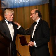 Joel I. Klein '67, CEO of Amplify, the education division of News Corp., and executive vice president at News Corp., as well as a member of News Corp.'s Board of Directors, was presented the 2013 Alexander Hamilton Medal at a gala dinner in Low Rotunda on November 14. The medal, the highest honor paid to a member of the College community, is presented by the Columbia College Alumni Association for distinguished service to the College and accomplishment in any field of endeavor. Photos: Eileen Barroso