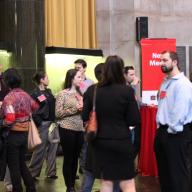 Students learned about careers in media from industry professionals at the Center for Career Education's Media Networking Night in Low Memorial Library. Photo: Katie Taflan
