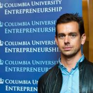 Students and alumni filled Roone Arledge Auditorium in Alfred Lerner Hall to hear Jack Dorsey, founder of Square and Twitter, speak about entrepreneurship.