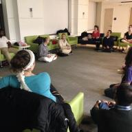 Residential Life and the Columbia Bhakti Club partnered on a wellness series providing free yoga and meditation to the entire Columbia community. Photo: Stella Girkins CC '15