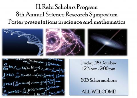 I.I. Rabi Scholars Science and Math Research Symposium poster