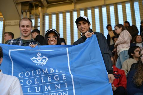 More than 100 Columbia College alumni and students cheered on their hometown team at a Student and Young Alumni Night at the Yankees on April 11. Photo: Andrea Arellano '17, Columbia Photography Association