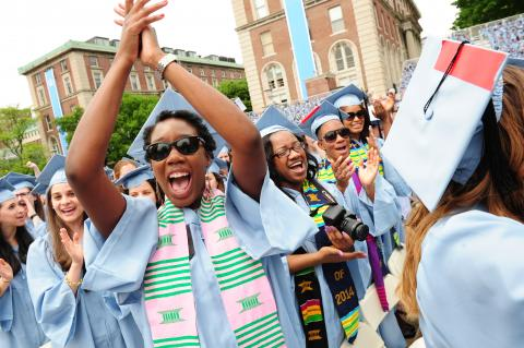 On May 21, the members of the Columbia College Class of 2014 joined more than 14,000 degree candidates from the University and its affiliates as they officially became graduates during Commencement, presided over by President Lee C. Bollinger.