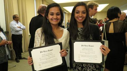 Phi Beta Kappa Ceremony photo
