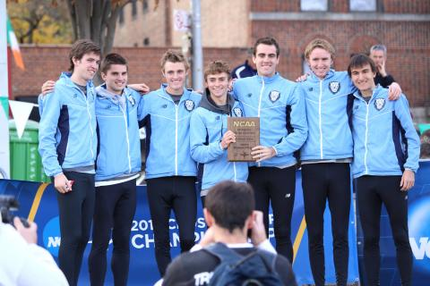 Men's Cross Country won its fourth Ivy League Championship at the annual Heptagonal meet in Princeton, New Jersey. Photo: Courtesy Columbia University Athletics