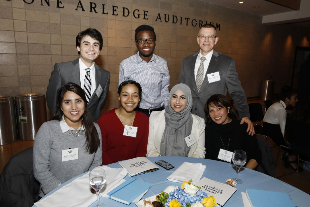 Students and donors at the Dean's Scholarship Reception