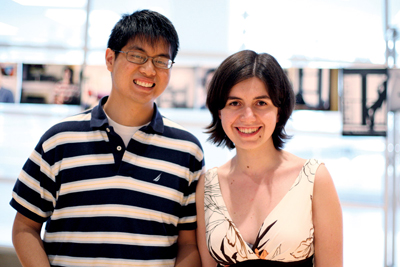 Bennett Hong '11 and Angela Radulescu '11 sought to chronicle the diversity of the Columbia student body. PHOTO: DANIELLA ZALCMAN '09