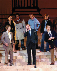 Quigley portrays himself in the 2004 Varsity Show.Photo: Eileen Barroso