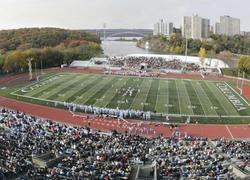 The picture-postcard view from the press box atop Wien Stadium. PHOTO: GENE BOYARS/columbia university athletics