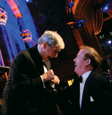 University Trustees Chair Bill Campbell '62 and Quigley at the 2006 John Jay Awards Dinner. Photo: Eileen Barroso
