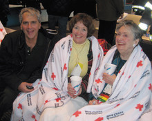 Dr. Raymond Basri '77 with his patients and friends, Diane Higgins and Lucille Parker, shortly after the women were rescued from a commercial airliner that made an emergency landing in the Hudson River on January 15.