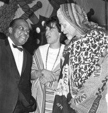 O'Meally's parents with Count Basie at a costume party. Photo: Courtesy of Robert G. O'Meally