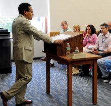 Associate Director of the Core Curriculum Roosevelt Montás '95 spoke at a mini-Core course at last year's reunion. All alumni, even those not celebrating reunion, may enjoy classes this year, as Dean's Day will be held on Saturday, June 6.