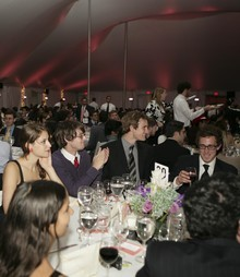 Seniors enjoyed a formal dinner and wine under a tent on South Lawn on May 4.