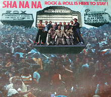 "Sha Na Na members on the cover of their classic album, from left to right, standing, back row: Alan Cooper '71; Joe Witkin '70; Richard Joffe '72, '93L; Donald York '71; David Garrett '70E; Henry Gross '73 GSAS, '78L, '80 GSAS; Bruce Clarke '74; John ""Jocko"" Marcellino '72; and Elliot Cahn '70. Kneeling, gold lame: Robert Leonard '70, '73 GSAS, '82 GSAS; Scott Powell '70 GS; and Frederick ""Denny"" Greene '72. PHOTO: Courtesy George Leonard '67 and Robert Leonard '70"
