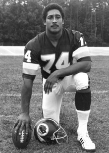 "Starke was nicknamed ""Head Hog"" when he anchored the offensive line of the Washington Redskins, who won the Super Bowl in 1983. Photo: Courtesy of the Washington Redskins"