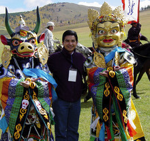 In 2003, Eugenio Cano '95 attended a reenactment of the Naadam Festival in Mongolia while serving as a member of the Nicaraguan delegation to the Fifth International Conference of New or Restored Democracies. PHOTO: Bayasakh Batbayasakh